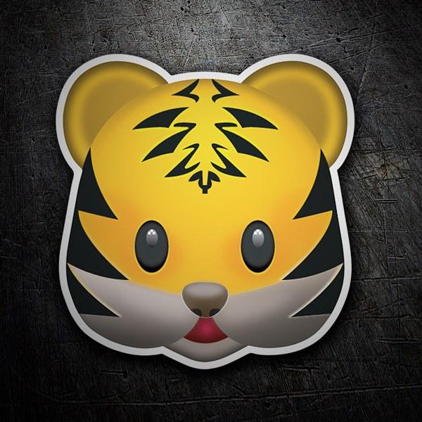 Pegatinas: Cara de tigre