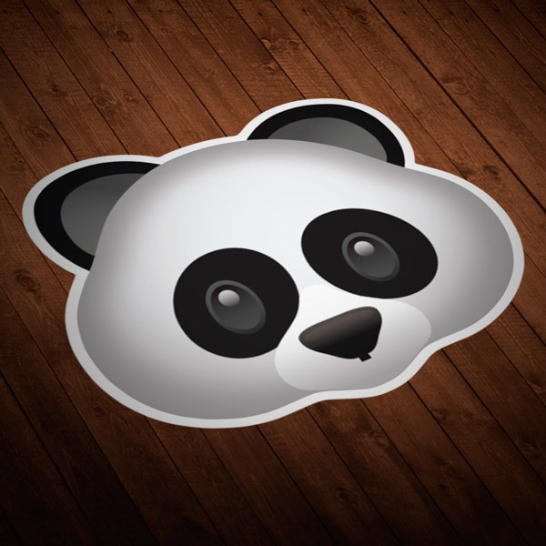 Pegatinas: Cara de oso panda