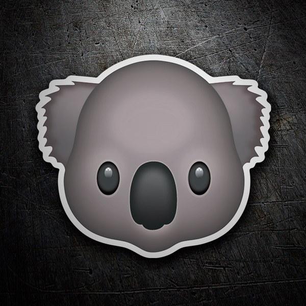 Pegatinas: Cara de Koala