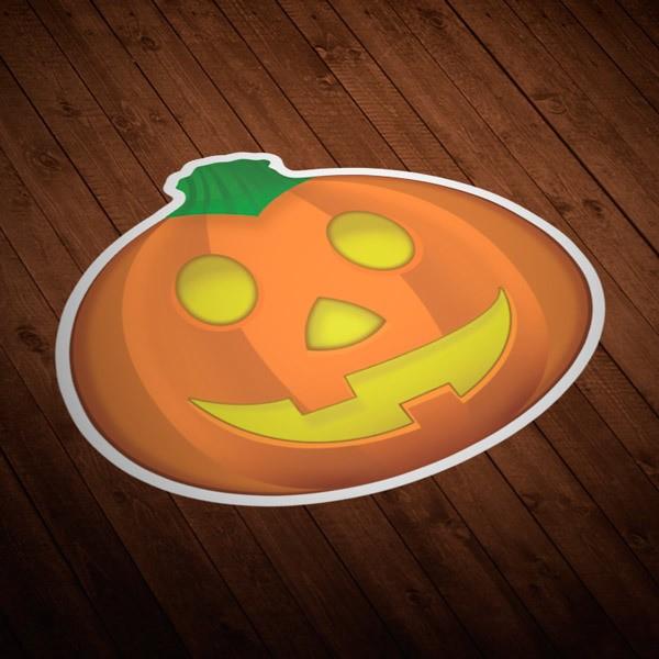 Pegatinas: Calabaza de Halloween