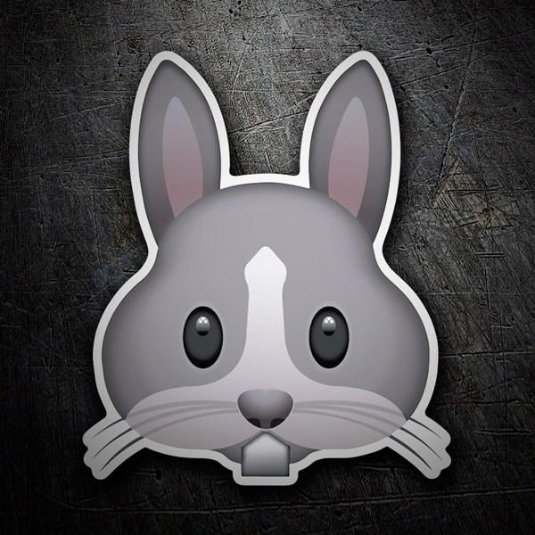 Pegatinas: Cara de Conejo