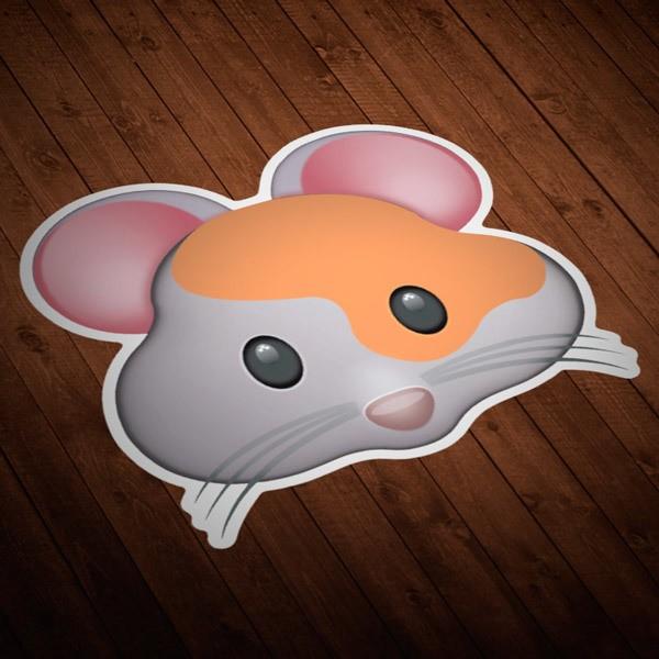 Pegatinas: Cara de Hamster