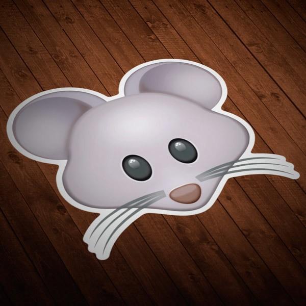 Pegatinas: Cara de ratón