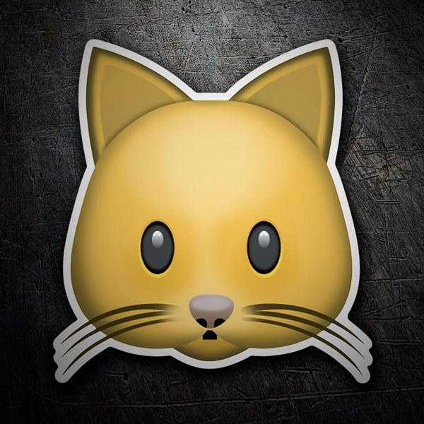 Pegatinas: Cara de gato