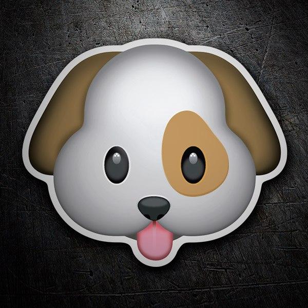 Pegatinas: Cara de perro