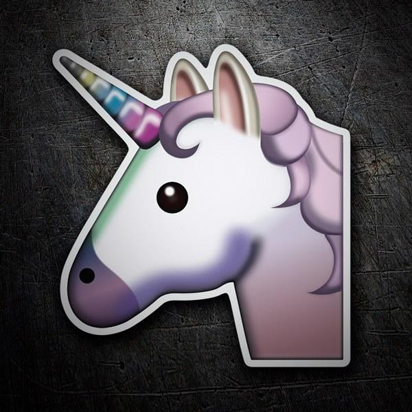 Pegatinas: Cara de unicornio