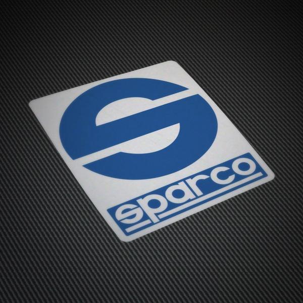 Pegatinas: Logo Sparco sobre fondo blanco