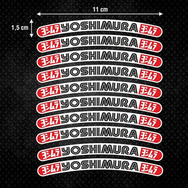 Pegatinas: 10 pegatinas Yoshimura llanta