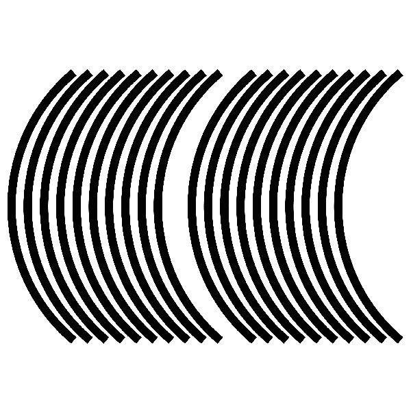 Pegatinas: Kit genérico bandas 2 llantas 10mm.