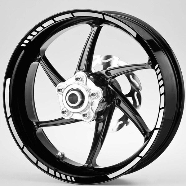 Pegatinas: Bandas llantas Moto GP Style 10 mm.
