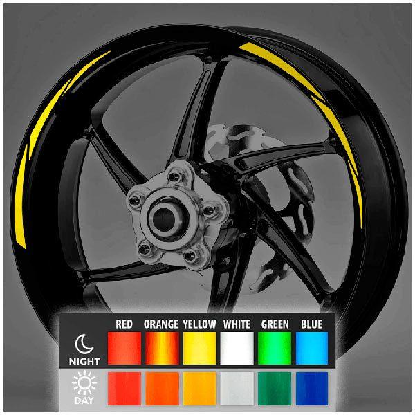 Pegatinas: Bandas llantas MotoGP Style 2 reflectante