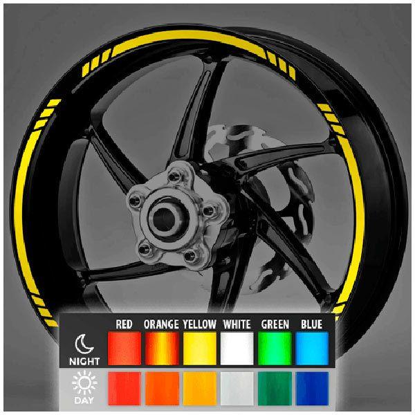 Pegatinas: Bandas llantas MotoGP Style 3 reflectante
