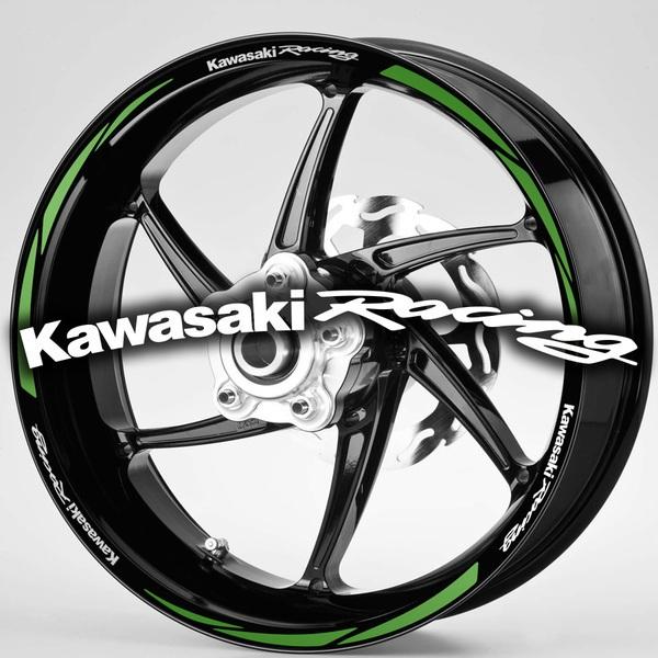 Pegatinas: Bandas llantas MotoGP Kawasaki Rancing