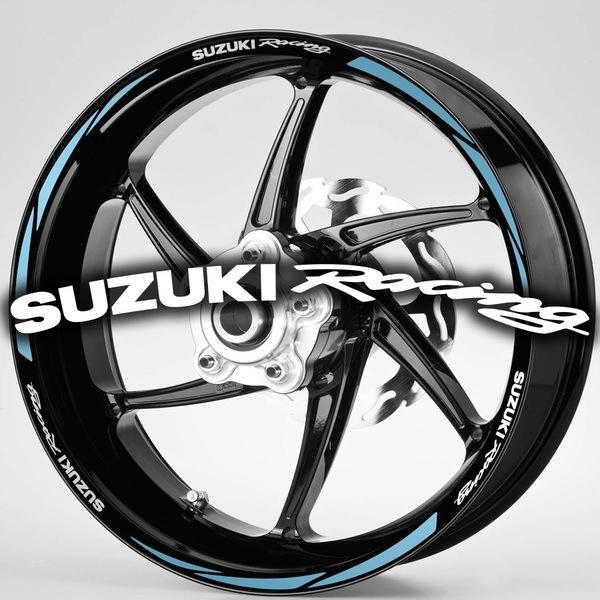 Pegatinas: Bandas llantas MotoGP Suzuki Rancing