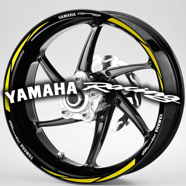 Pegatinas: Bandas llantas MotoGP Yamaha Rancing