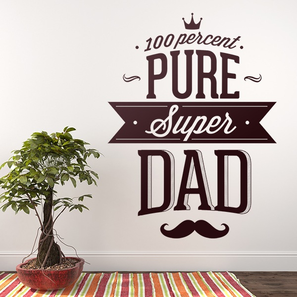 Vinilos Decorativos: 100 Percent Pure Super Dad