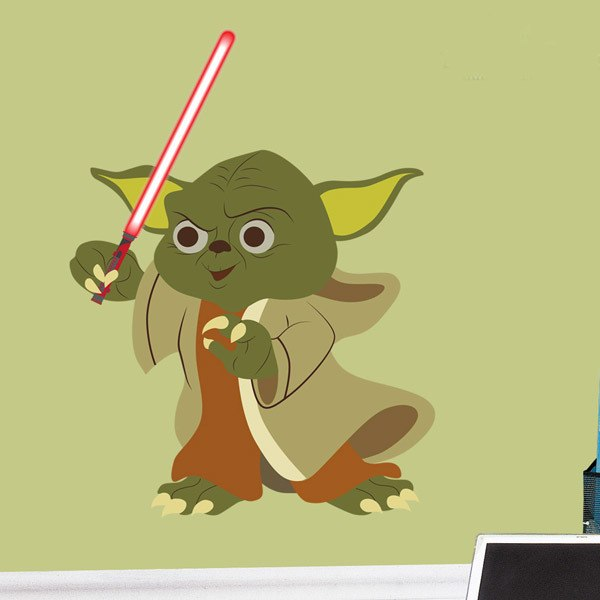 Vinilos Infantiles: Yoda espada