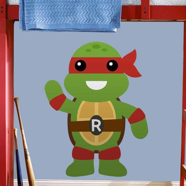 Vinilos Infantiles: Tortuga Ninja Rafhael