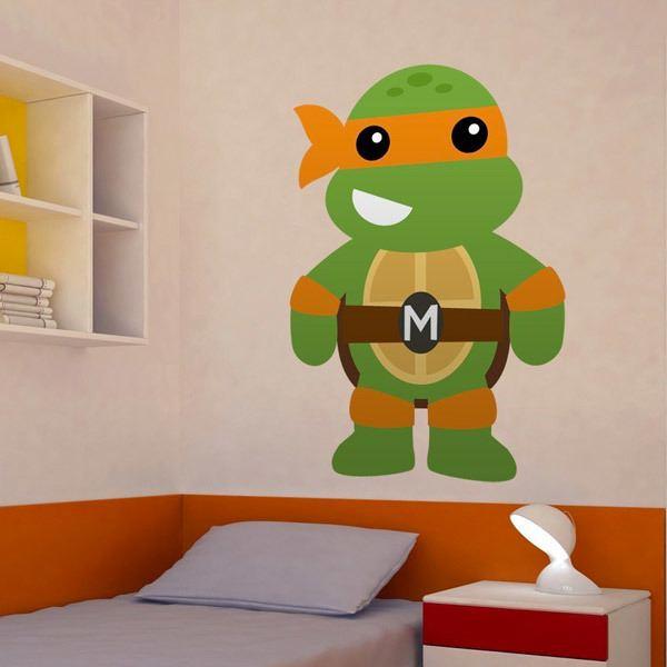 Vinilos Infantiles: Tortuga Ninja Michelangelo