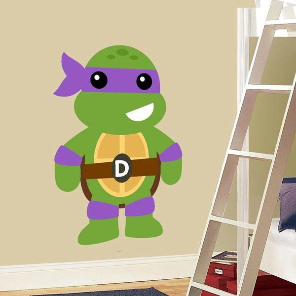 Vinilos Infantiles: Tortuga Ninja Donatello
