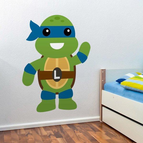 Vinilos Infantiles: Tortuga Ninja Leonardo