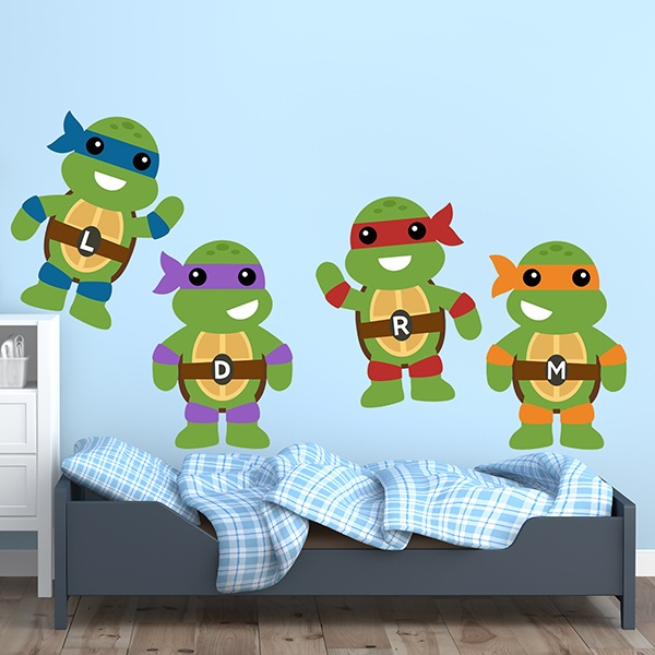 Vinilos Infantiles: Kit Tortugas Ninja