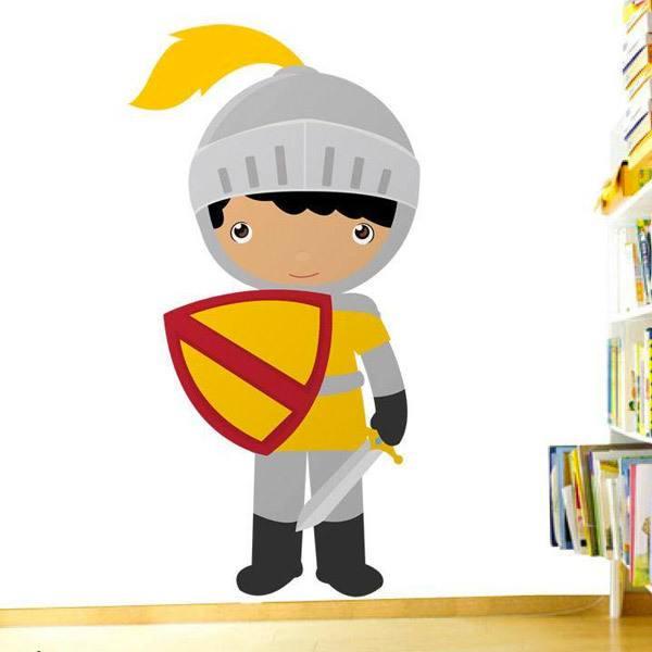 Vinilos Infantiles: Caballero andante Amarillo