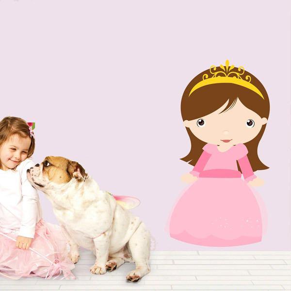 Vinilos Infantiles: Princesa castaña
