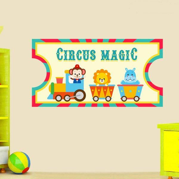 Vinilos Infantiles: Ticket de Circo 2