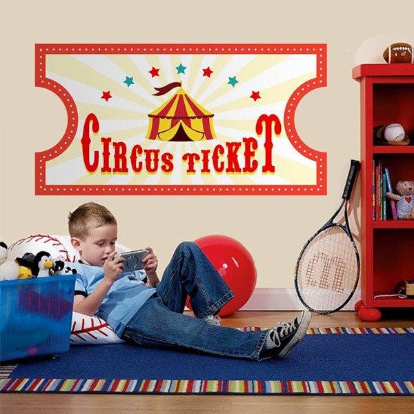Vinilos Infantiles: Ticket de Circo 4