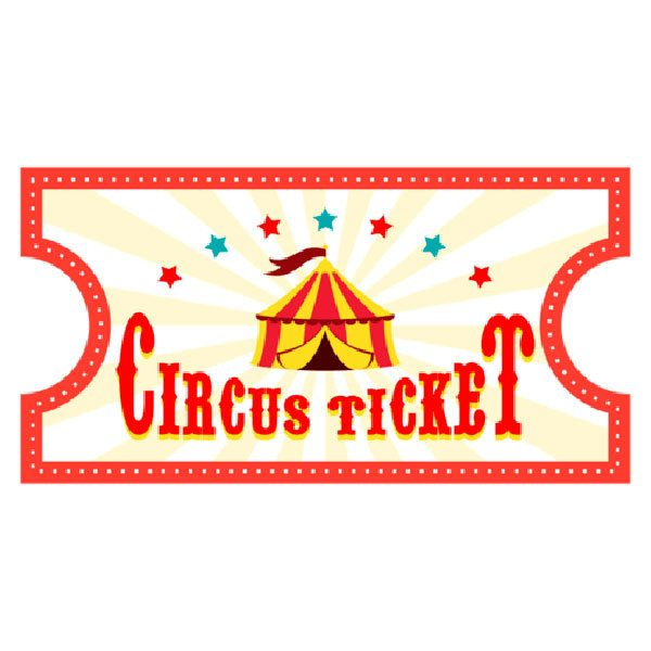 vinilo infantil ticket de circo 4 clip art ticket clip art ticket stub