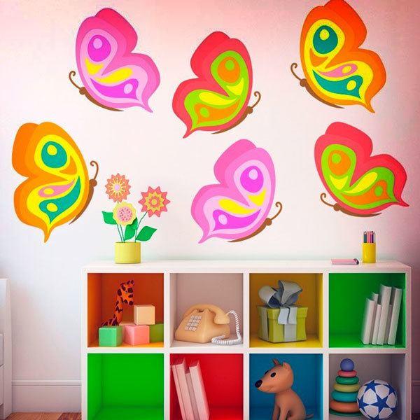 Vinilos Infantiles: Kit 6 mariposas