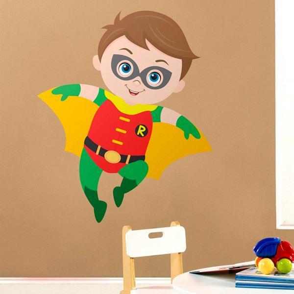 Vinilos Infantiles: Robin volando