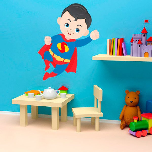 Vinilos Infantiles: Superman Volando