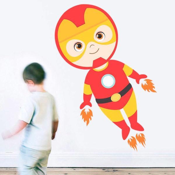Vinilos Infantiles: Ironman volando