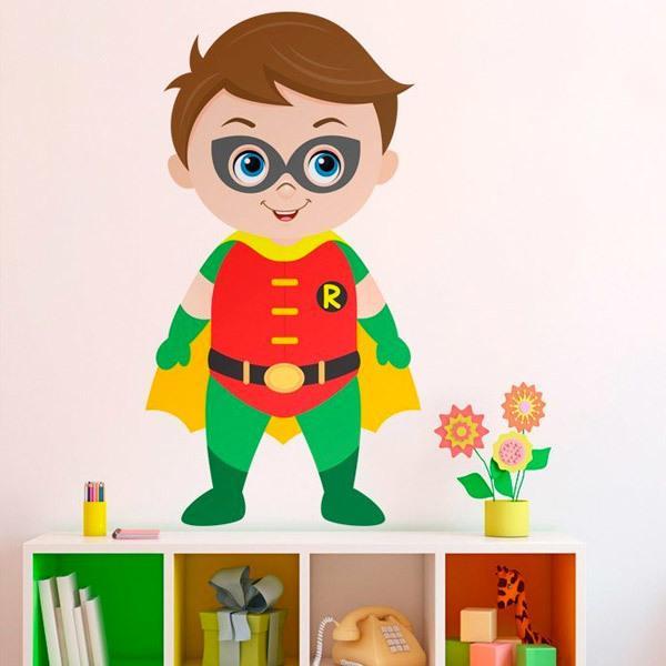 Vinilos Infantiles: Robin de pie