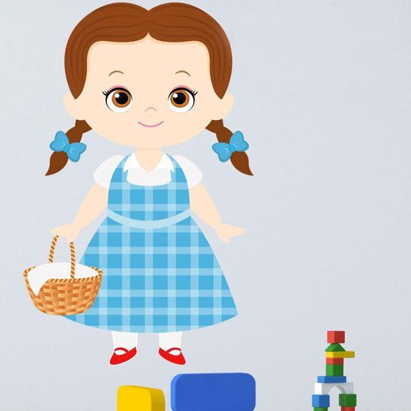 Vinilos Infantiles: Doroty Mago de Oz cesta
