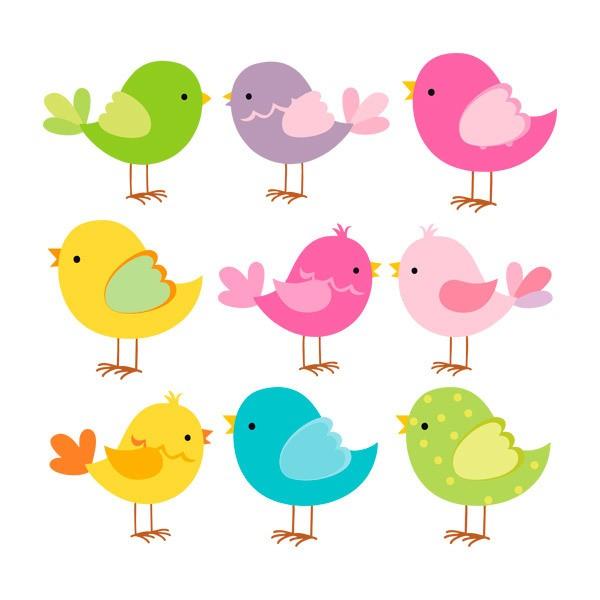 Vinilos Infantiles: Kit Pájaros de colores