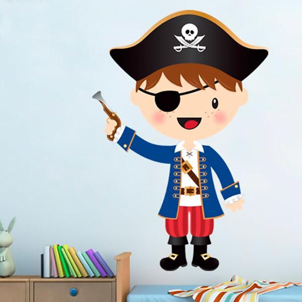 Vinilo Infantil El Pequeño Pirata Trabuco