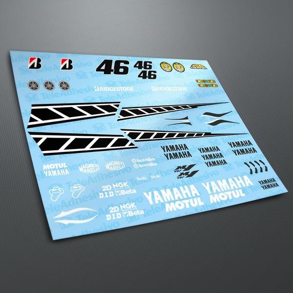 Pegatinas: Kit Yamaha 50th Anniversary Laguna Seca 2005