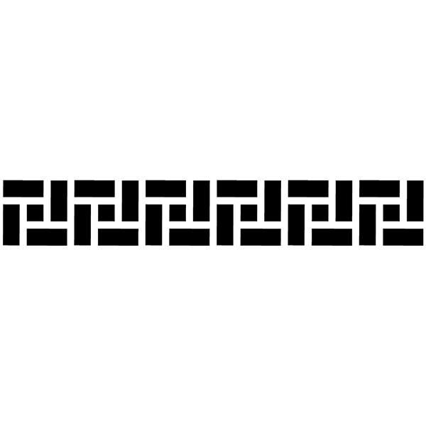 Vinilos Decorativos: Cenefa Griega Rectángulos