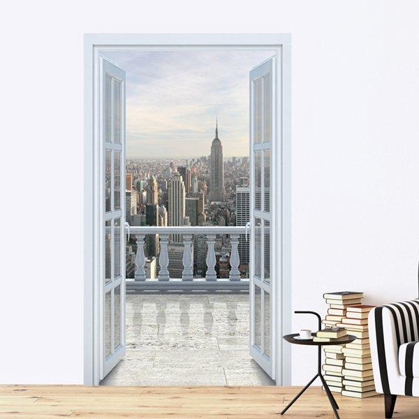 Vinilos Decorativos: Vista desde un rascacielos en Nueva York