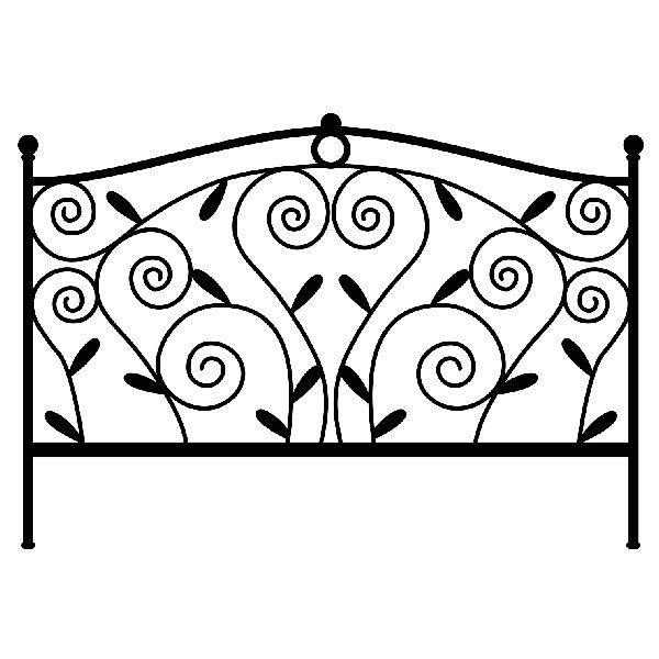 Vinilo cabecero de cama classic - Vinilos cabezal cama ...