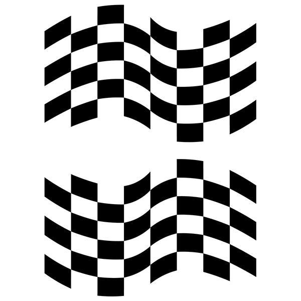Pegatinas: Banderas Racing 1