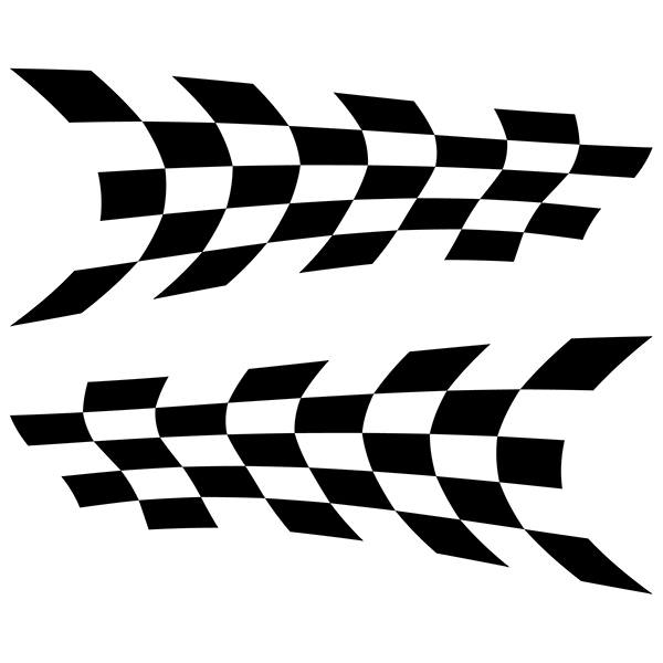 Pegatinas: Banderas Racing 2