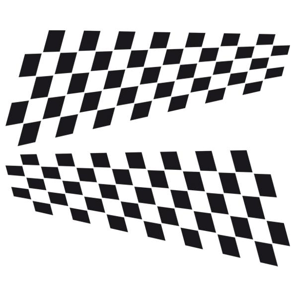 Pegatinas: Banderas Racing 15