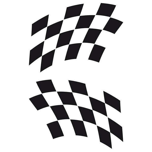 Pegatinas: Banderas Racing 19