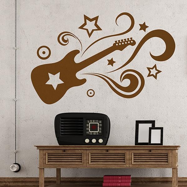 Vinilo Decorativo Guitar Star