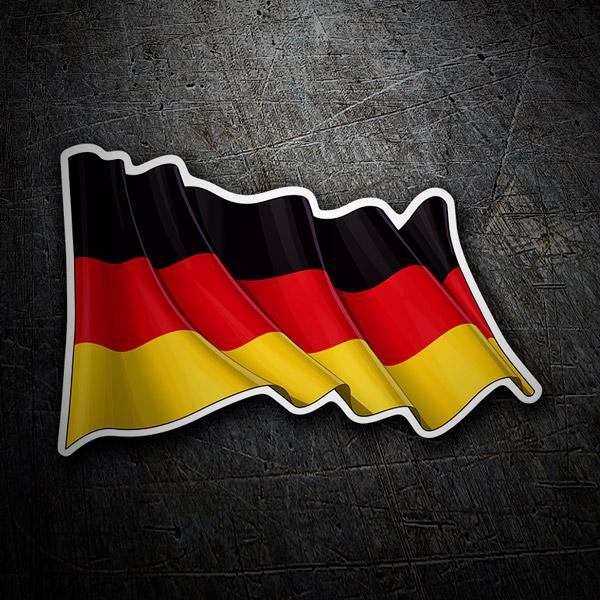 Pegatinas: Bandera de Alemania ondeando