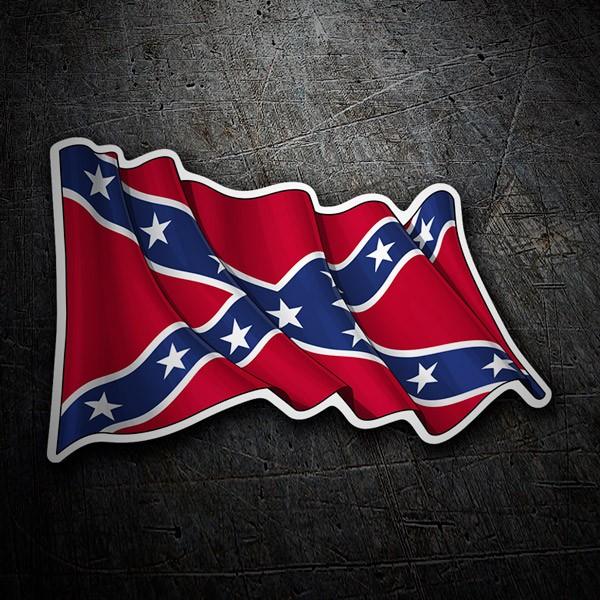 Pegatinas: Bandera Confederada Rebelde